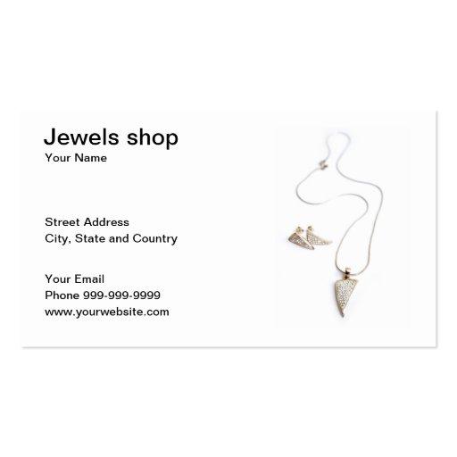 tienda de las joyas tarjetas de visita