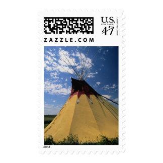 Tienda de los indios norteamericanos cerca del sellos