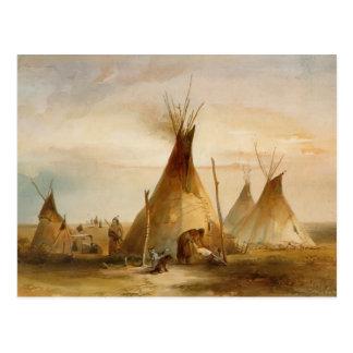 Tienda de los indios norteamericanos de Karl Bodme Tarjetas Postales
