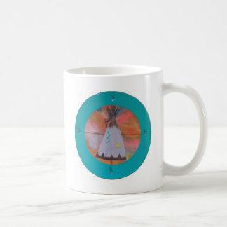 Tienda de los indios norteamericanos del círculo tazas de café