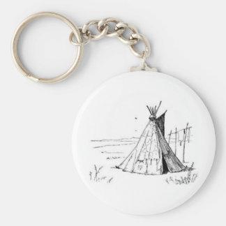 Tienda de los indios norteamericanos del nativo am llavero redondo tipo pin