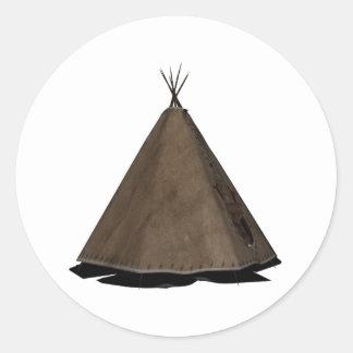 tienda de los indios norteamericanos del nativo pegatina redonda