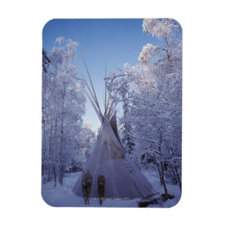 Tienda de los indios norteamericanos en invierno iman