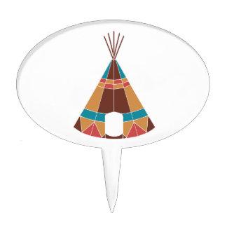 Tienda de los indios norteamericanos india figura de tarta