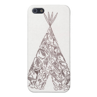 TIENDA DE LOS INDIOS NORTEAMERICANOS INDIA de NICH iPhone 5 Carcasa