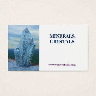tienda de los minerales de los cristales tarjetas de visita