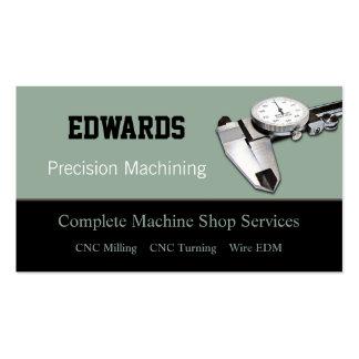 Tienda de máquina plantillas de tarjeta de negocio