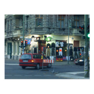 tienda de ropa del culto - Berlín urbana Postal