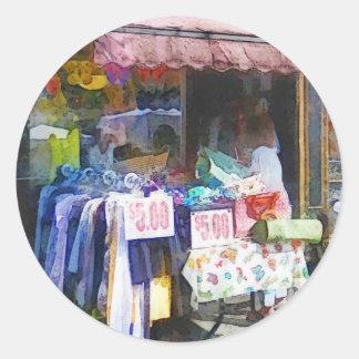 Tienda de ropa Hoboken NJ del descuento Pegatina Redonda