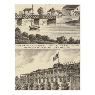 Tienda de Schellinger y casa del océano Postales