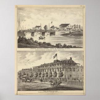 Tienda de Schellinger y casa del océano Póster