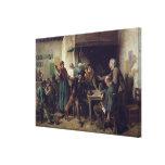 Tienda de vino lunes, 1858 lienzo envuelto para galerias