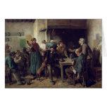 Tienda de vino lunes, 1858 tarjeta de felicitación