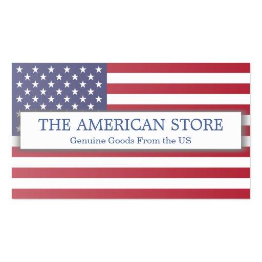 Tienda del americano/los E.E.U.U. - señale la Tarjetas De Visita