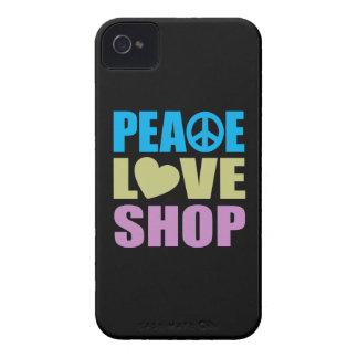Tienda del amor de la paz funda para iPhone 4 de Case-Mate