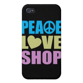 Tienda del amor de la paz iPhone 4/4S fundas