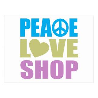 Tienda del amor de la paz postales