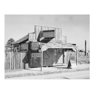 Tienda del borde de la carretera 1935 tarjeta postal