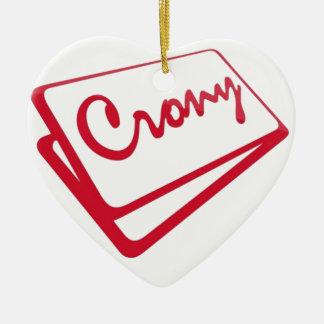 Tienda del camarada adorno de cerámica en forma de corazón