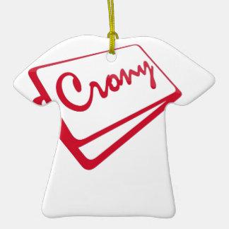 Tienda del camarada adorno de cerámica en forma de camiseta