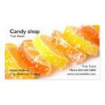 Tienda del caramelo plantilla de tarjeta de visita