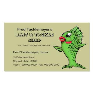 Tienda del cebo y de los trastos artes de pesca tarjeta de visita