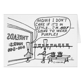 Tienda del hilo tarjeta