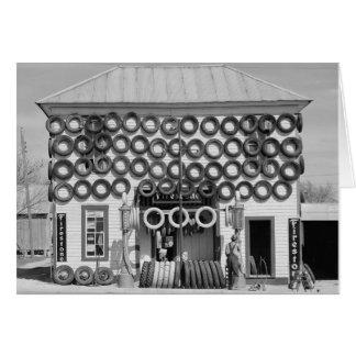 Tienda del neumático del pedernal, 1940 tarjeta de felicitación
