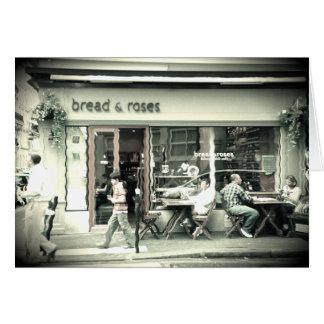 tienda del pan del efecto del agua tarjeta de felicitación