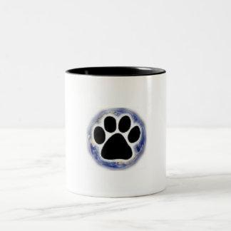 Tienda del perro del planeta taza
