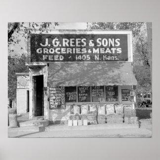 Tienda del ultramarinos y de la alimentación, 1938 impresiones