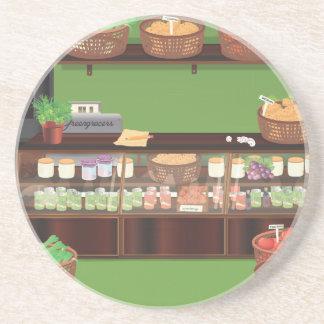 Tienda del verdulero posavasos para bebidas