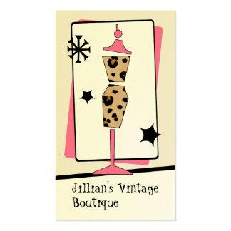Tienda del vintage boutique - forma del vestido de tarjetas de visita