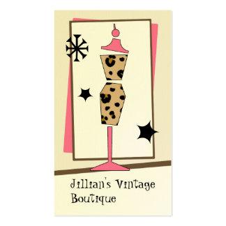 Tienda del vintage boutique - forma del vestido de tarjeta de visita