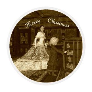 Tienda del vintage del navidad láminas de azúcar para galletas