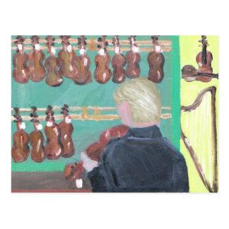 Tienda del violín de París Tarjeta Postal