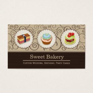 Tienda dulce de la panadería - empanadas de tarjetas de visita