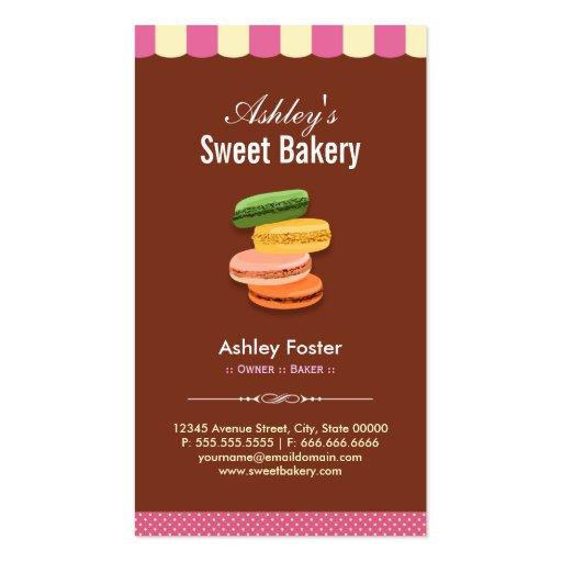 Tienda dulce de la panadería - pasteles de tarjetas de visita