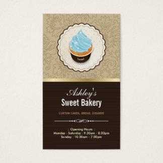 Tienda dulce de la panadería - postre de los tarjetas de visita
