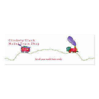 Tienda floja del tren de la charla de Clickety del Tarjetas De Visita Mini