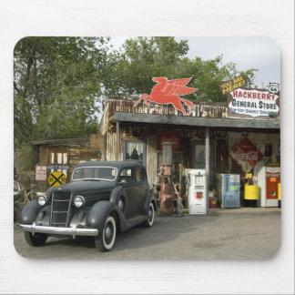 Tienda general de la ruta 66 y gasolinera mouse pads