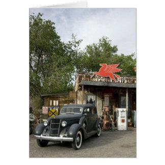 Tienda general de la ruta 66 y gasolinera tarjeta