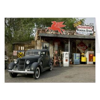 Tienda general de la ruta 66 y gasolinera tarjetas