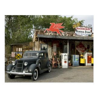 Tienda general de la ruta 66 y gasolinera tarjeta postal