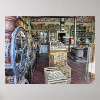 Tienda general - pueblo fantasma de Virginia City  Póster