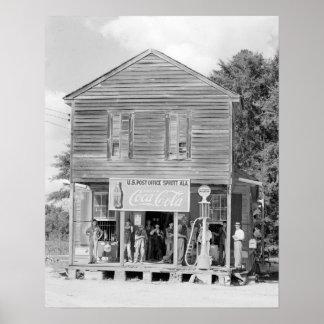 Tienda general y la Post-office, 1935 Poster