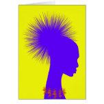 tienda grosera de la tinta del chica del pelo del  felicitación