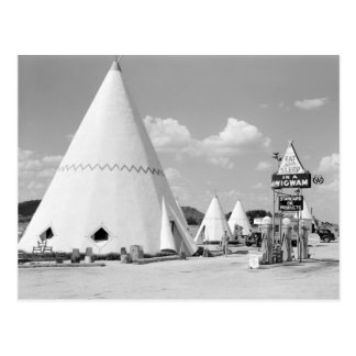 Tienda india Motel, 1940 Tarjeta Postal