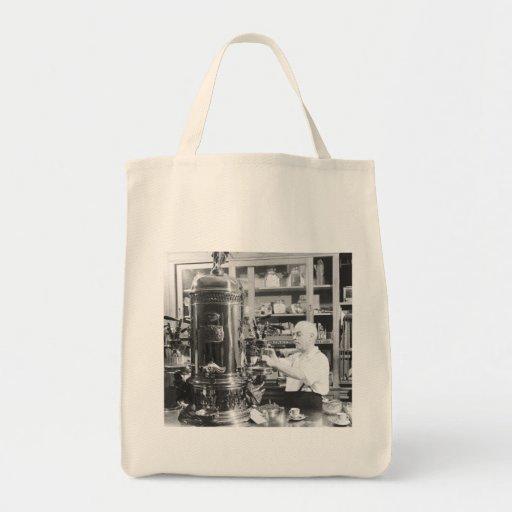 Tienda italiana del café express del vintage de Ne Bolsa