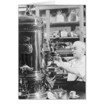 Tienda italiana del café express del vintage de Ne Tarjetón